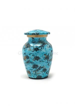 Small Brass Keepsake Container Funeral Urn for Ashes.
