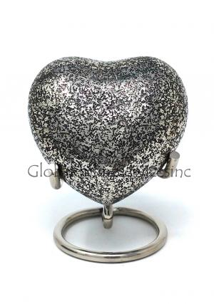 Small Glenwood Heart Keepsake Urn with Stand