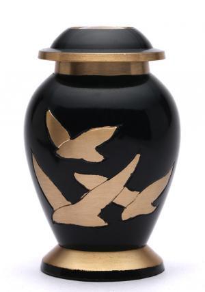 Small Going Home Black Keepsake Cremation Urn