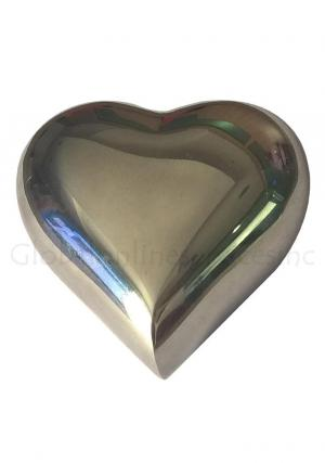 Small Margate Heart Keepsake Cremation Urn Ashes