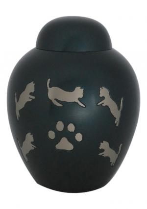 Smaller Dark Slate Dome Top Cremation Urn for Pet Ashes