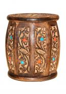 Vintage Classic Hand Carved Wooden Barrel Money Box