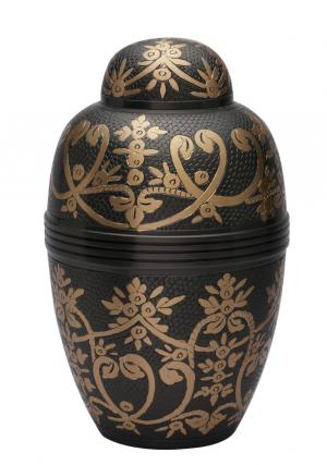 Windsor Black Large Adult Urn for Cremation Ashes