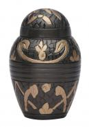 Windsor Black Small Keepsake Memorial Urn for Human Ashes