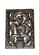 Wooden Flower Pot Wall Key Holder With 4 Hooks