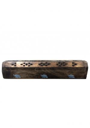 Wooden Hand Crafted Incense Stick & Cone Burner