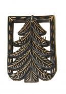 Wooden Tree Shape Wall Key Holder With 5 Hooks
