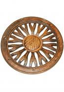 Wooden Wheel Shape Key Holder With 7 Hook